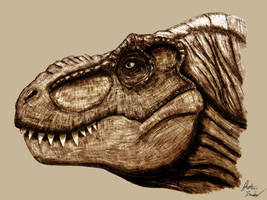 Rexy head (commission) by jbconcepts87