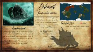 Behemoth (Terragerulus titanus) Creature sheet