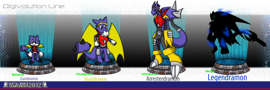 DWC  Gumdramon Classic digivolution line by Semi-Charmed137Gumdramon Evolution