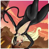 Kat - Gravity Rush (Spy costume) by CainDream