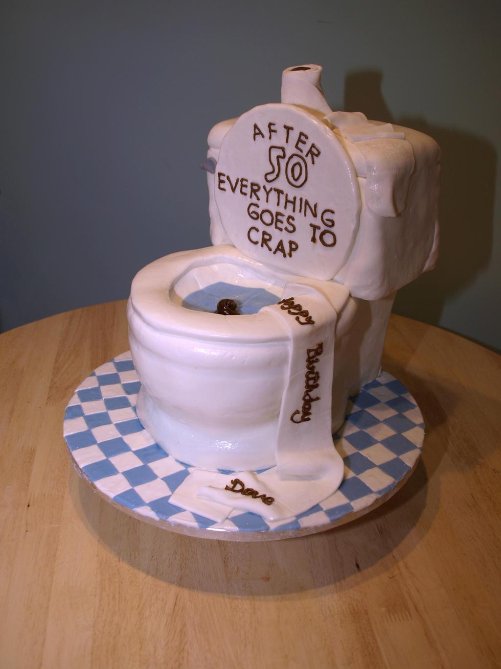Toilet 50th Birthday Cake