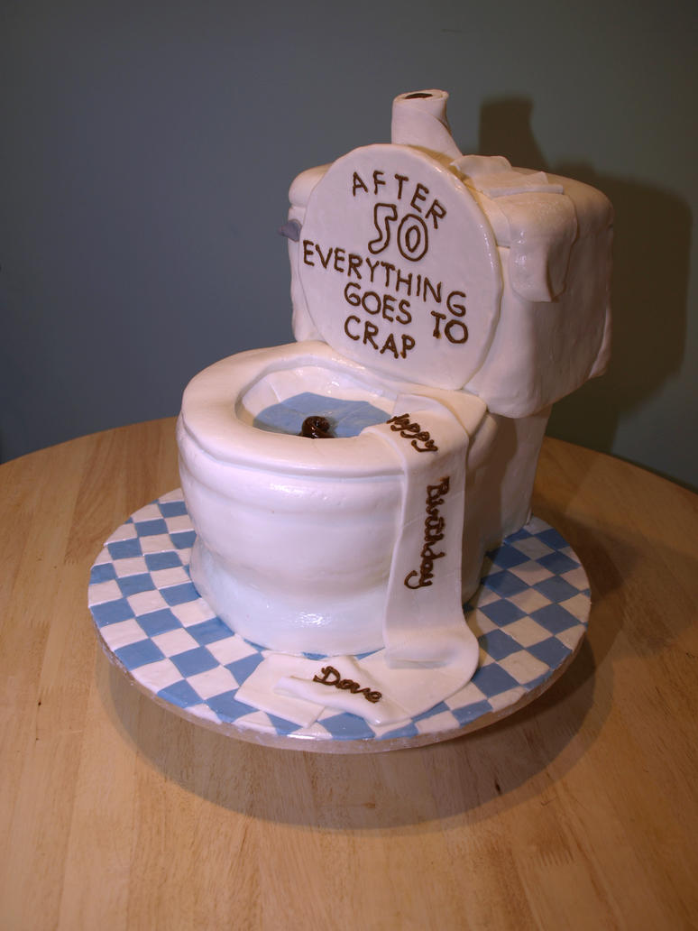 Cake Ideas For 50th Birthday Funny : Toilet 50th Birthday Cake by reenaj on DeviantArt