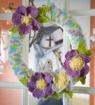 Wild Roses and Dove Wreath