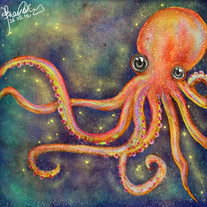 Portrait Of An Octopus By V Cantabile On Deviantart