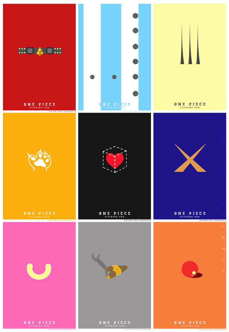 One piece minimalist posters design by v cantabile on for Minimalist art pieces
