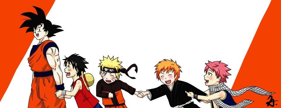 Goku-Luffy-Naruto-Ichigo-Natsu by Amistrated on DeviantArt