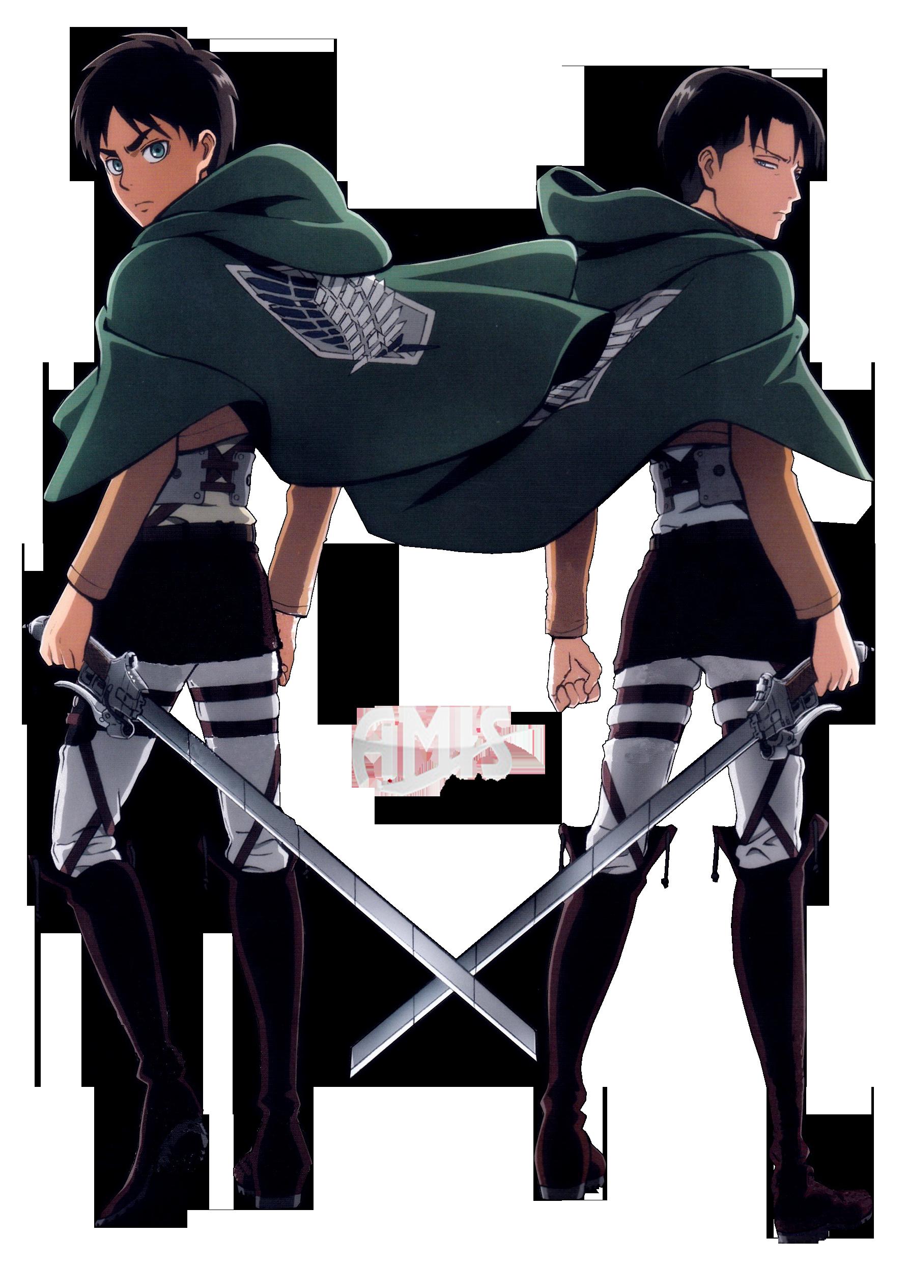 Snk Levi And Eren