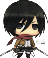 SNK - Mikasa Ackerman - Chibi by Amistrated