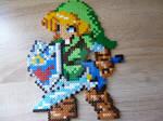 Link from The Legend of Zelda in Perler beads