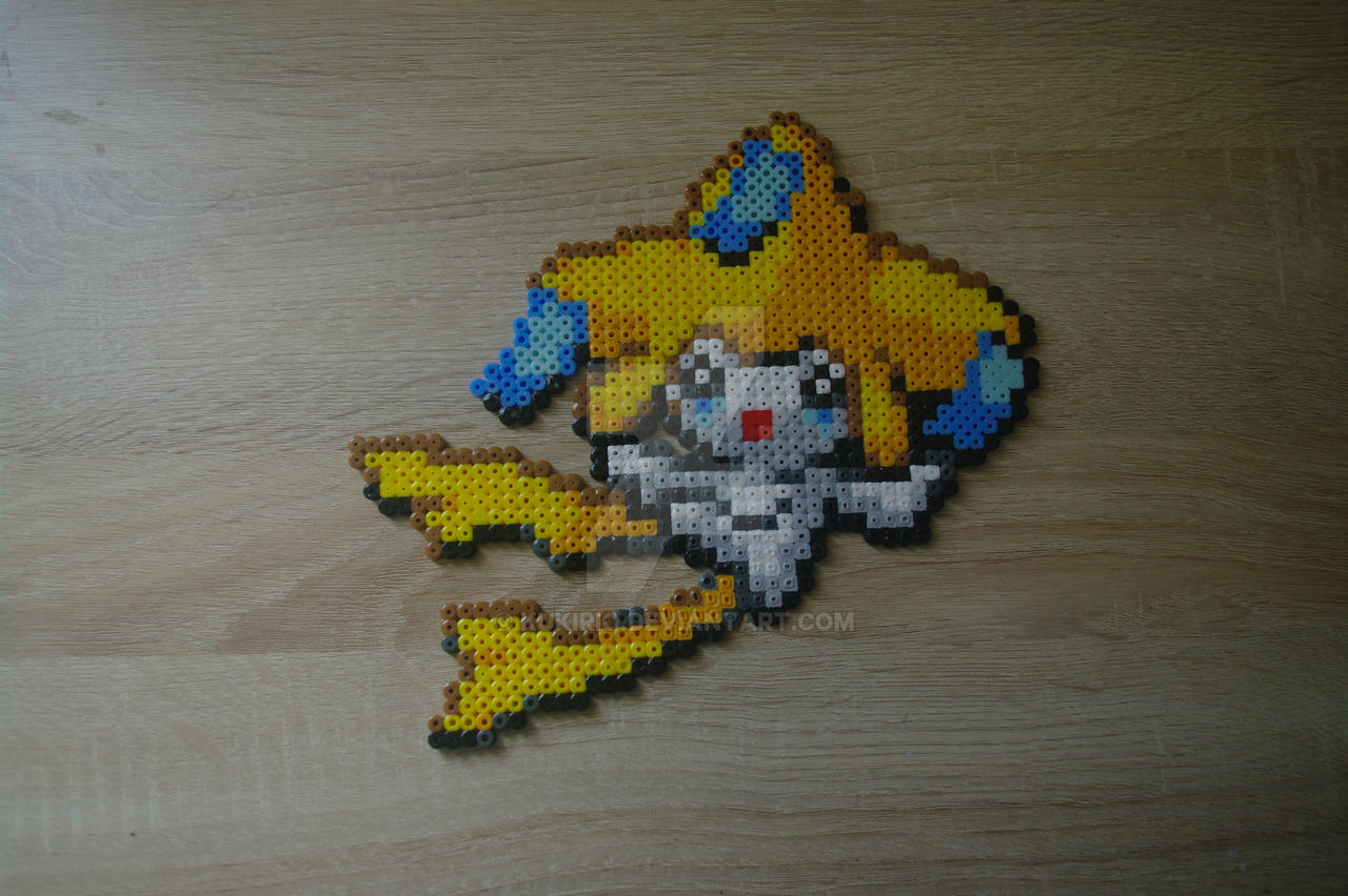 Sprite Jirachi Perler Beads Pixel Art By Kukirio On Deviantart