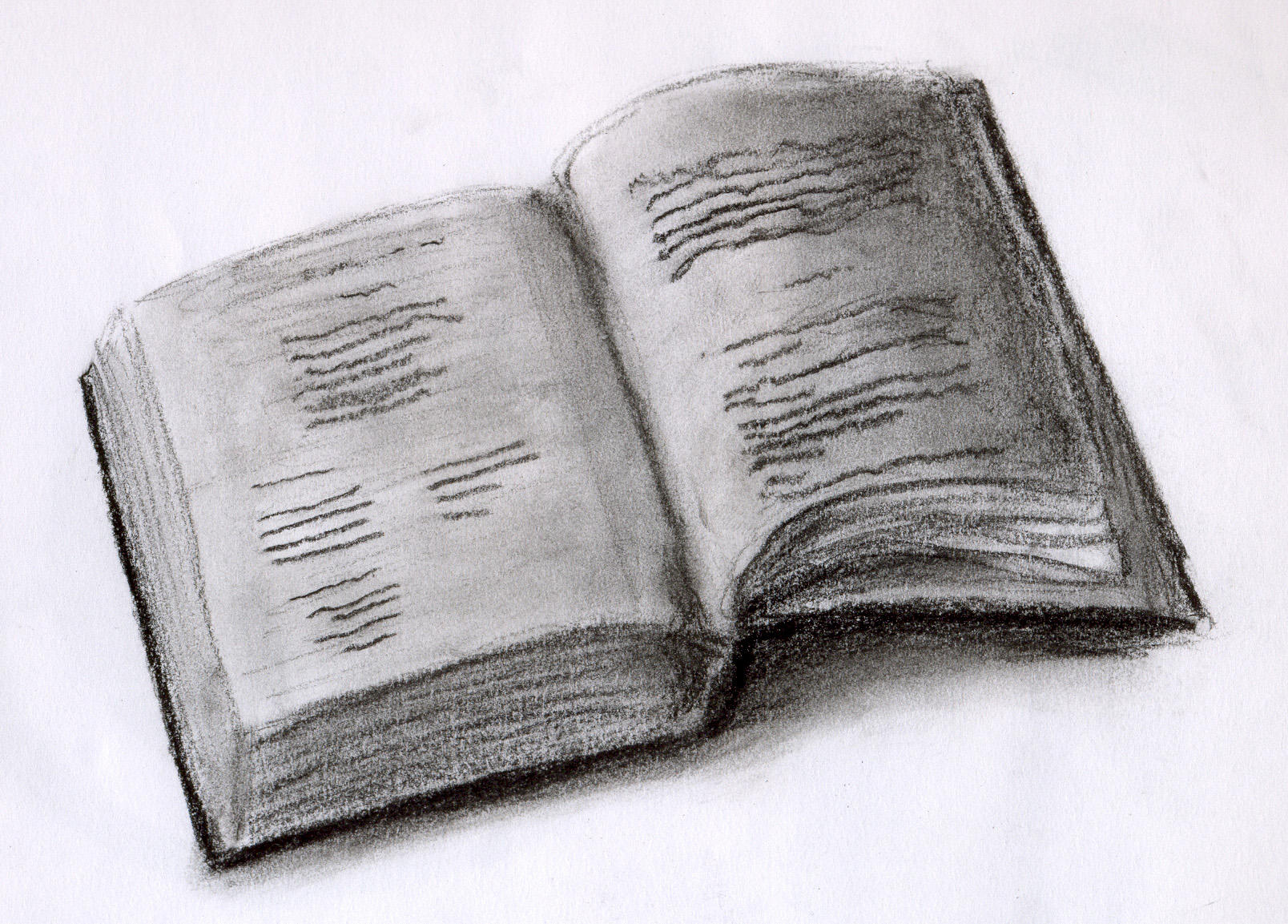 Drawing Of An Open Book | www.pixshark.com - Images ...