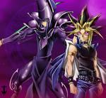 Yami Yugi y Dark Magician by TakerKano