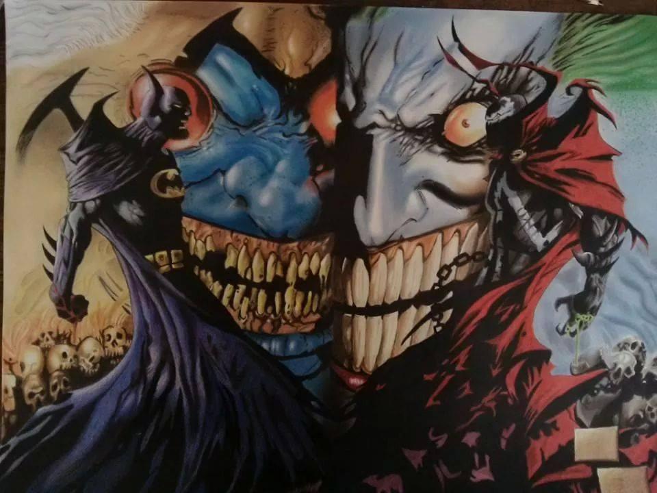 Batman and Spawn by CarloMagnoSangines