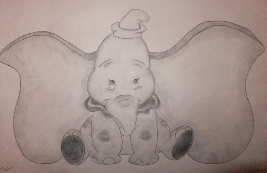 Dumbo Drawing Dumbo Drawing By...900