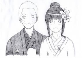 Naruto and Hinata as bride and groom by TheIllusiveMan90