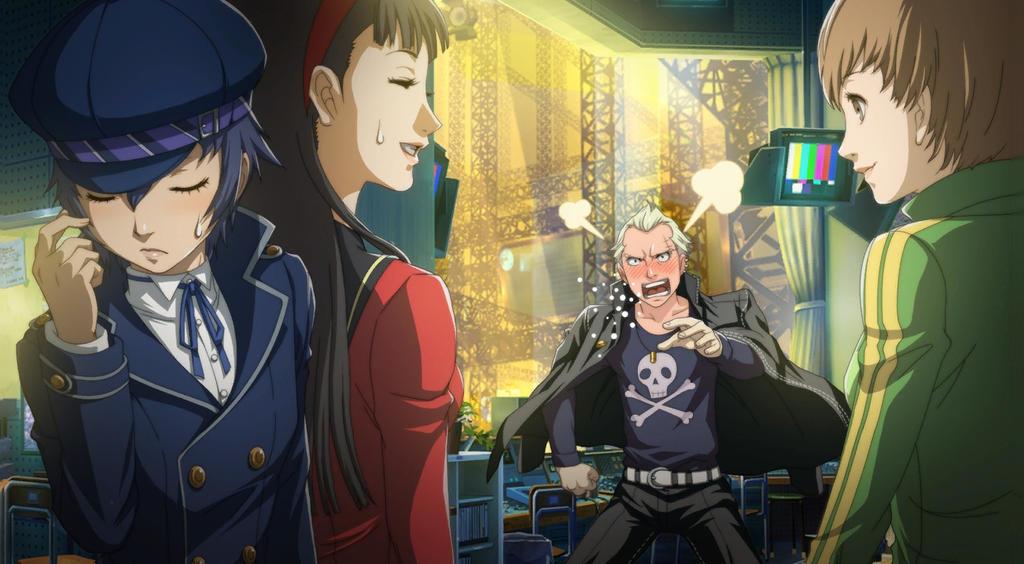 Kanji Tatsumi (Persona 4 Arena, Story Mode Illustr by 0mura2