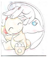 Mew and Charmy by Kidura