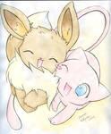 Mew and Eevee