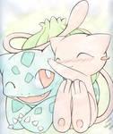 Mew and Bulbasaur