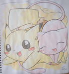 Mew and Pikachu