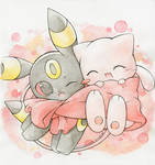 Mew and Umbreon