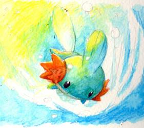 .mudkip by Kidura