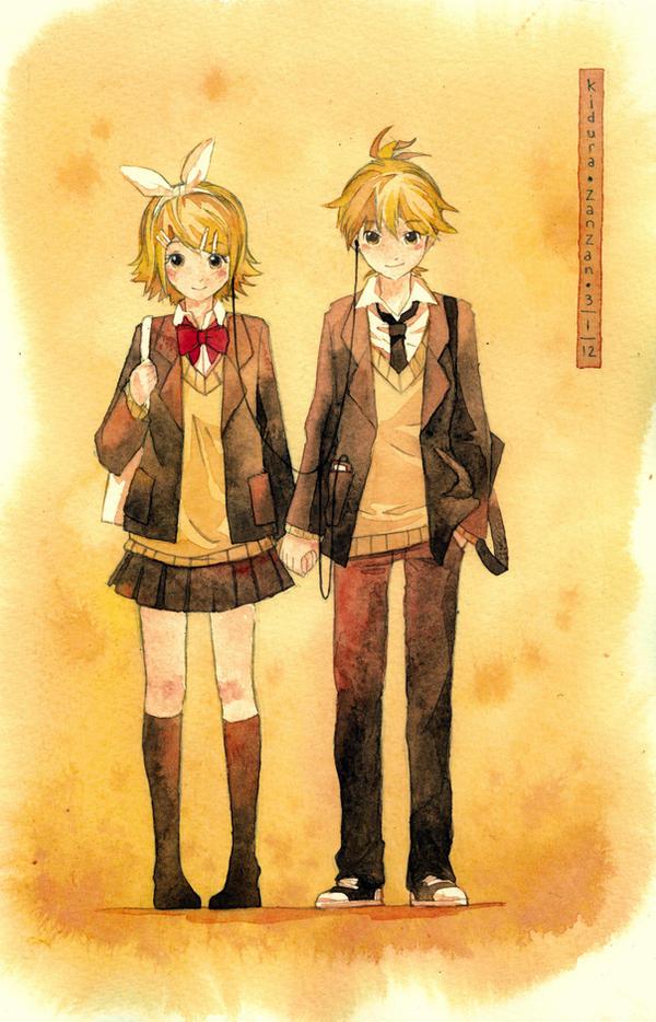 Rin and Len: Orange by Kidura