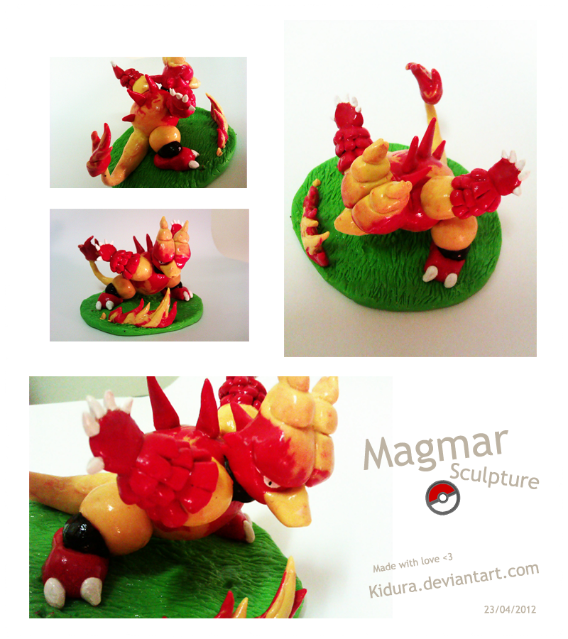 Magmar sculpture by Kidura