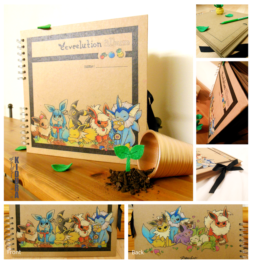 Commission: Eeveelution Album (berries) by Kidura