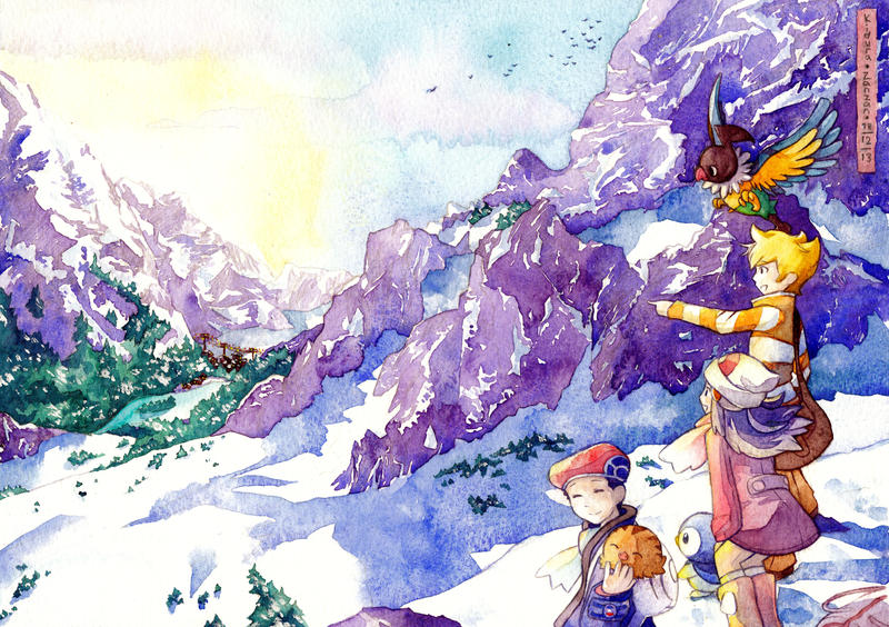 Snowy Sinnoh by Kidura