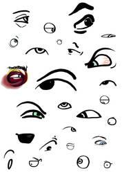 Cartoon Eyes by 0nm8