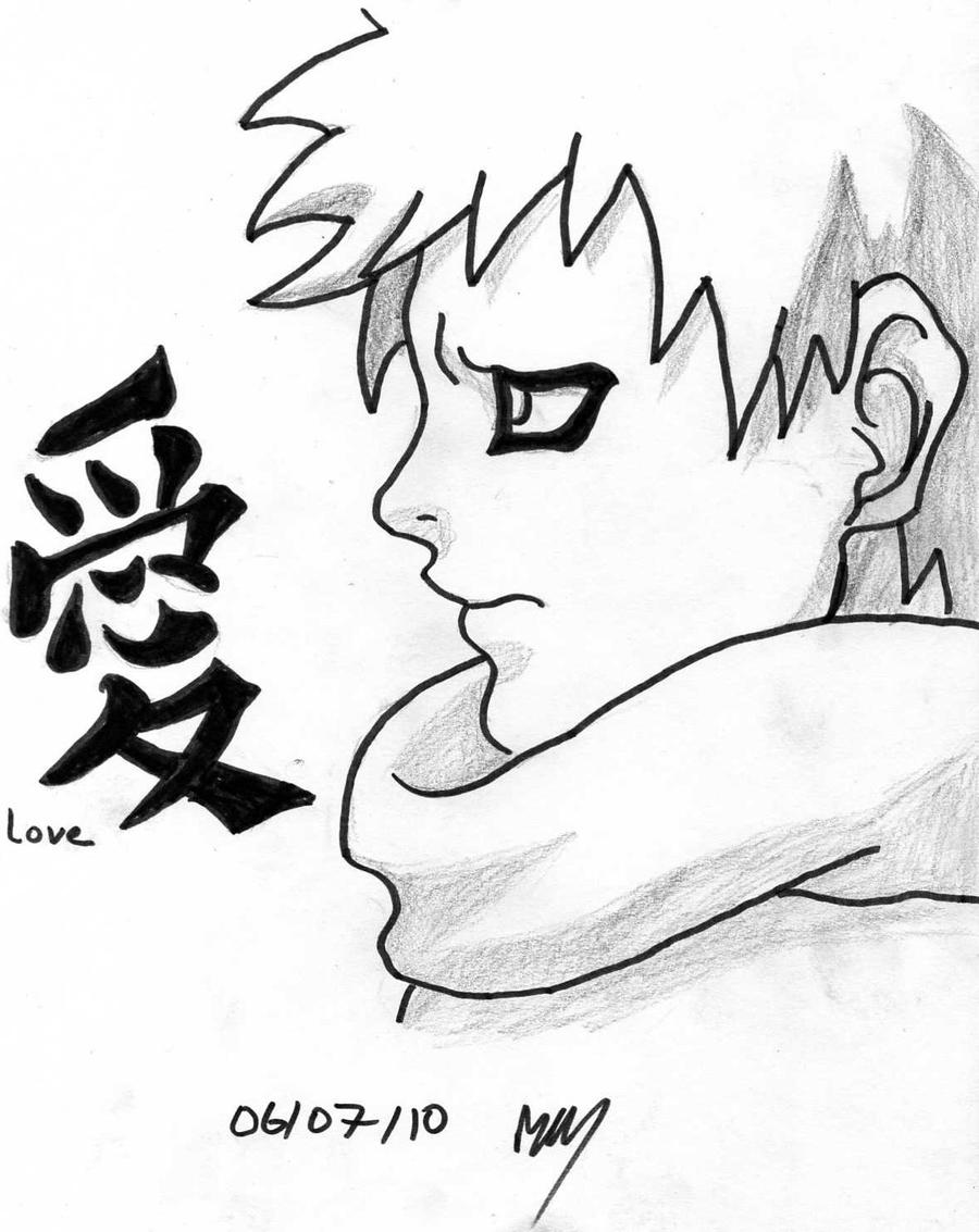 A old drawing of gaara i did by The8bitpixel on DeviantArt