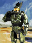 Master chief speed painting