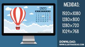 Calendario Wallpaper Descargable - Enero 2015