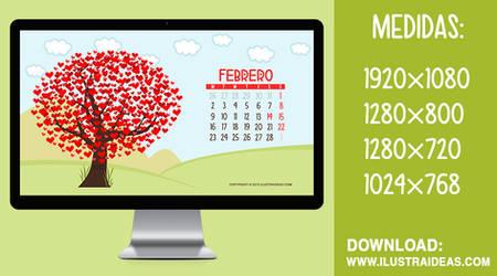 Calendario Wallpaper Descargable - Febrero 2015