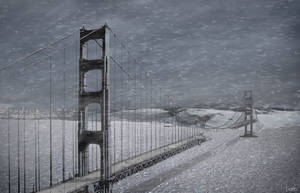 Golden Gate in snow by Doug222