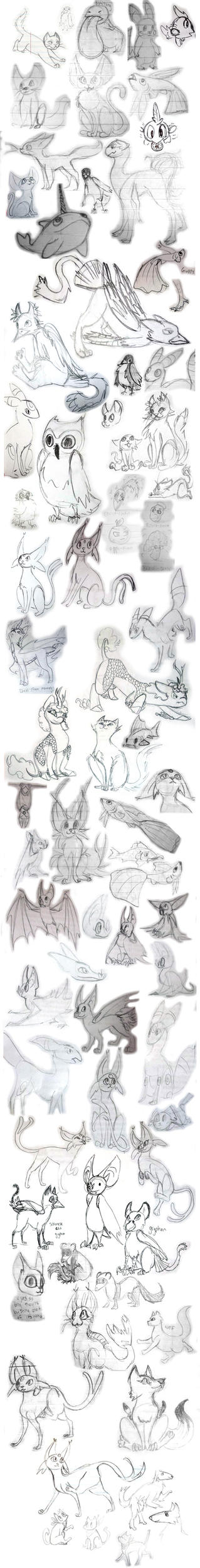Critter sketchdump 2015 by LadyKaltag