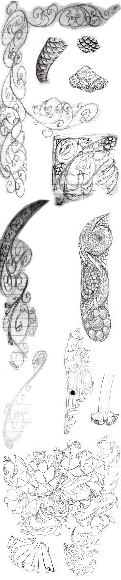 Pattern and design sketchdump 2015 by LadyKaltag