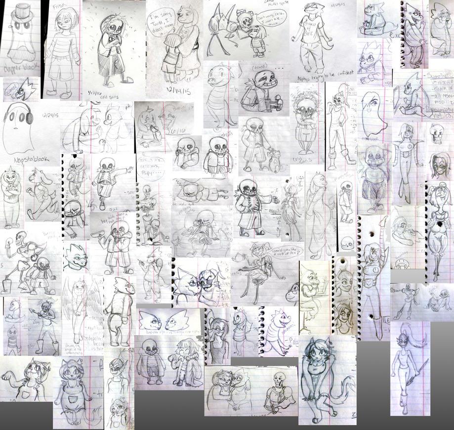 Undertale Sketchdump by LadyKaltag