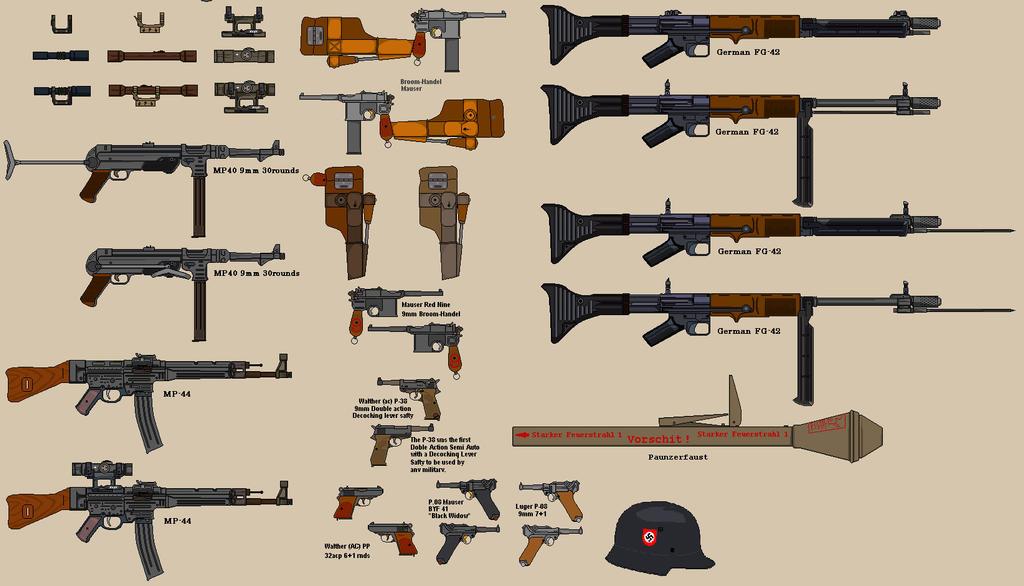 WW2 German Weapons 2 by BigChiefCrazyTalk on DeviantArt