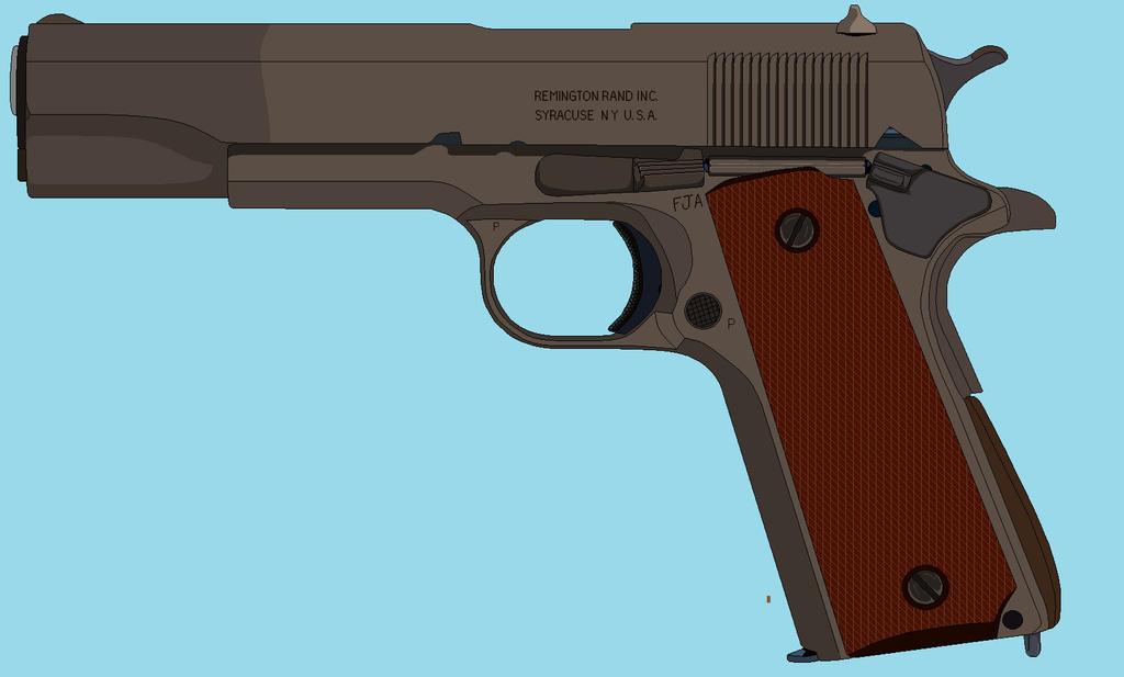 M1911A1 Remington Rand by BigChiefCrazyTalk