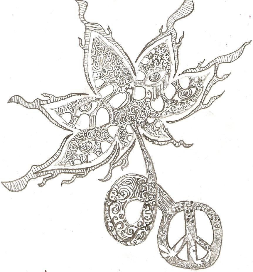 Cool Weed Leaf Drawings Leaf drawing weed cool