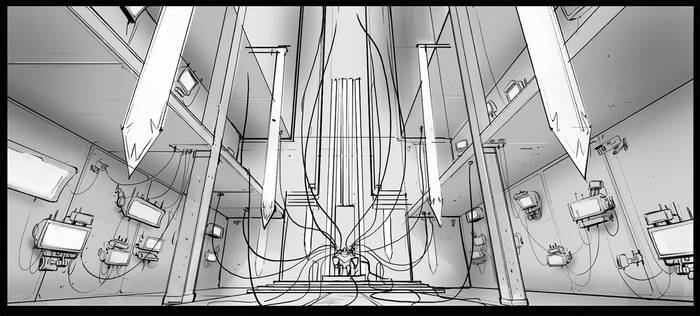 Robot King Throne room sketch