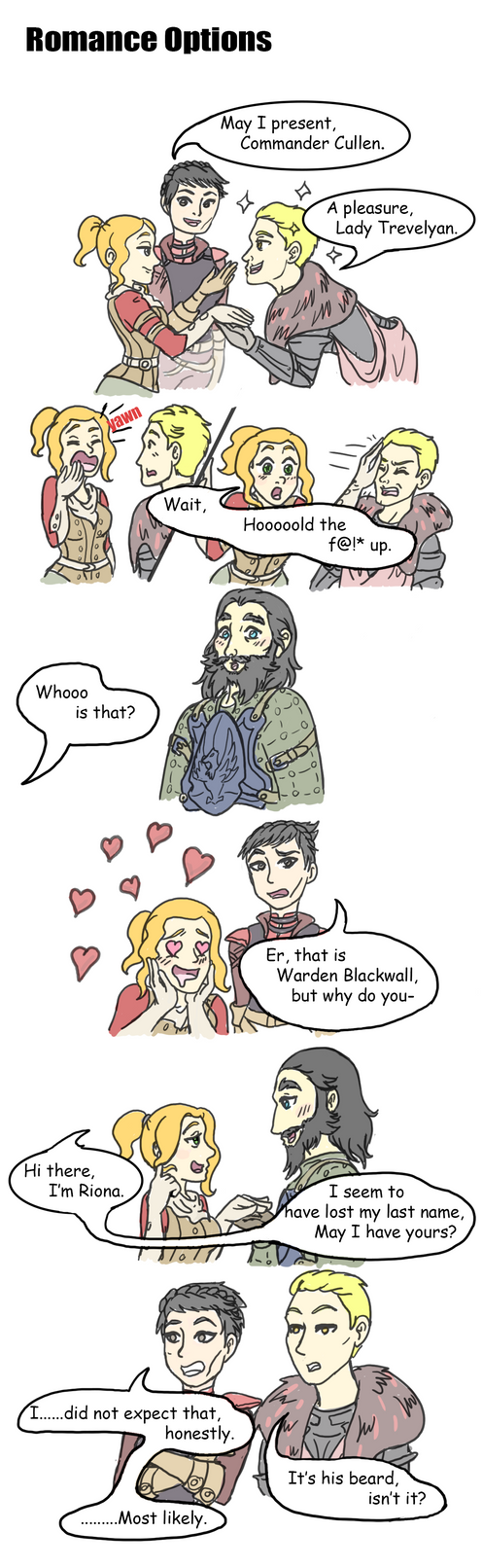 Inquisition Romance Options by JessieReigne