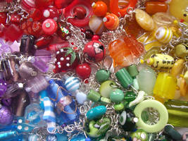 Rainbow charm bracelets 2 by fairy-cakes