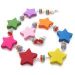 Wooden Rainbow Star Necklace