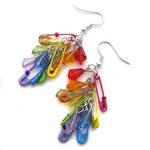 Rainbow Safetypin Earrings