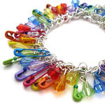 Rainbow Safetypin Bracelet
