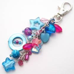 Pink + Blue Bag Charm