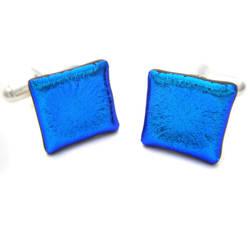Bright Blue Square Cufflinks